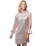 Tyler Boe - Pink & Gold Connie Sequin Dress