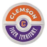 Clemson 2 Section Melamine Round Platter