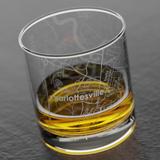 UVA Map Rocks/ Whiskey Glass