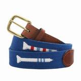 Needlepoint Belt - Blueberry Golf Tees