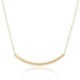 "enewton Necklace 16"" Bliss Bar Gold Textured"
