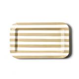 Happy Everything Neutral Stripe Mini Entertaining Rectangle Platter