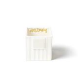 Happy Everything White Stripe Small Mini Nesting Cube