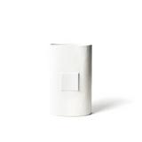 Happy Everything White Small Dot Big Oval Vase