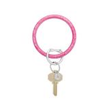 Big O Resin Key Ring - Pink Topaz
