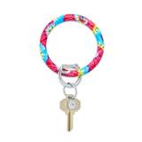 Big O Silicone Key Ring - Rainbow Tie-Dye