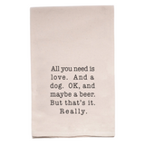 Kitchen Towel - Love and a Dog