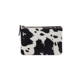 Hobo Give Small Pouch - Black & White Hide