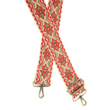 """Joy Susan - Embroidered Red 2"""" Purse Guitar Strap"""