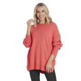 Astrid Ribbed Sweater - Pink