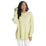 Astrid Ribbed Sweater - Lime