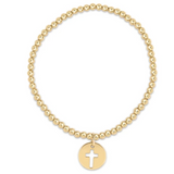 enewton Extends Classic Gold 3mm Bead Bracelet - Blessed Gold Charm