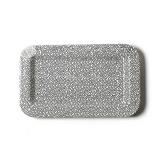 Black Small Dot Mini Entertaining Rectangle Platter