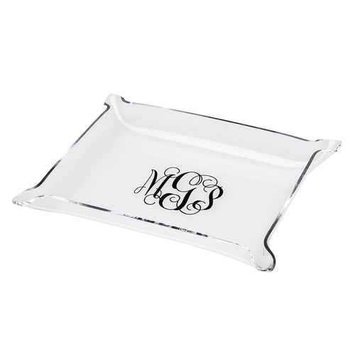 Acrylic Pinched Corner Tray - Medium