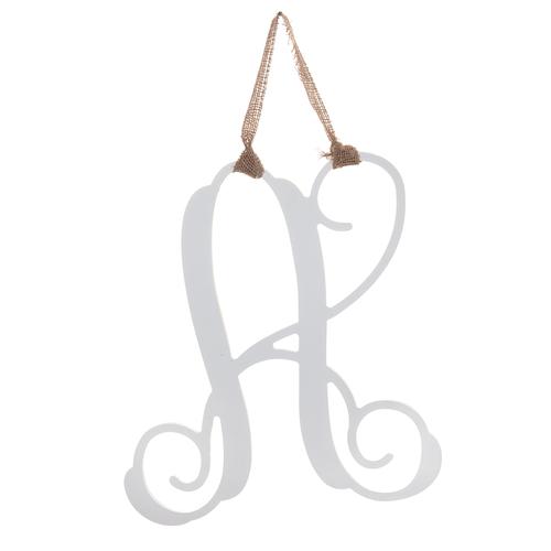 Initial Door Hanger - White