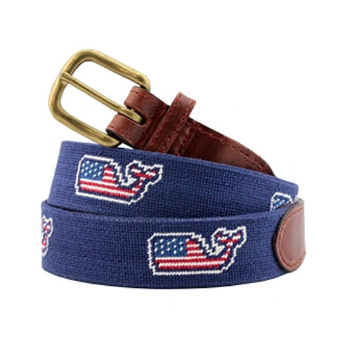 Needlepoint Belt VV Whale
