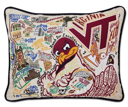 Virginia Tech Pillow by Catstudio