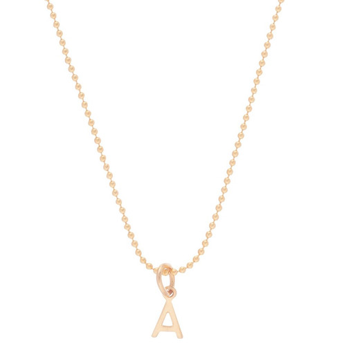 """enewton 16"""" Gold Respect Initial Necklace"""