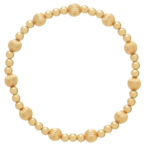 enewton Extends - Dignity Gold Sincerity Pattern 6mm Bead Bracelet
