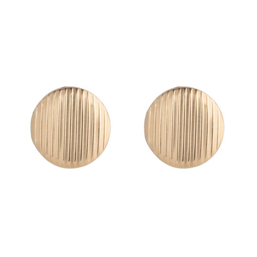 enewton EARRING CLASSIC 12mm BUTTON STUD GOLD TEXTURED