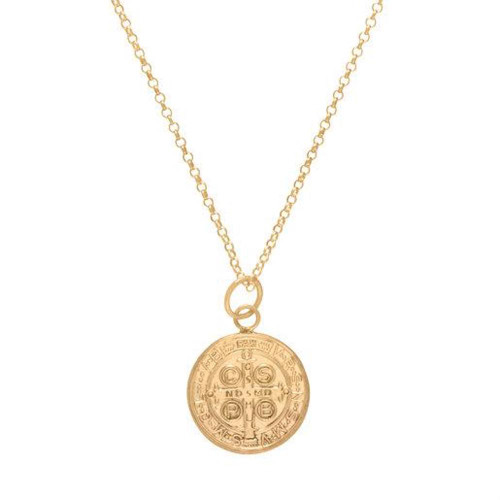 "enewton NECKLACE 16"" GOLD BLESSING LARGE GOLD CHARM"