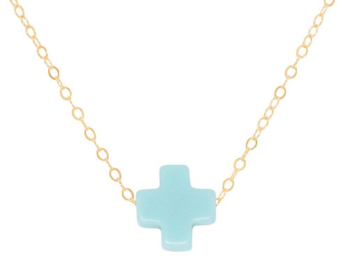 "enewton 16"" NECKLACE GOLD SIGNATURE CROSS"