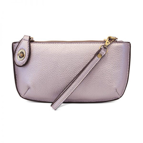 JOY SUSAN - WRISTLET CLUTCH - METALLIC PALE PURPLE - MINI CROSSBODY