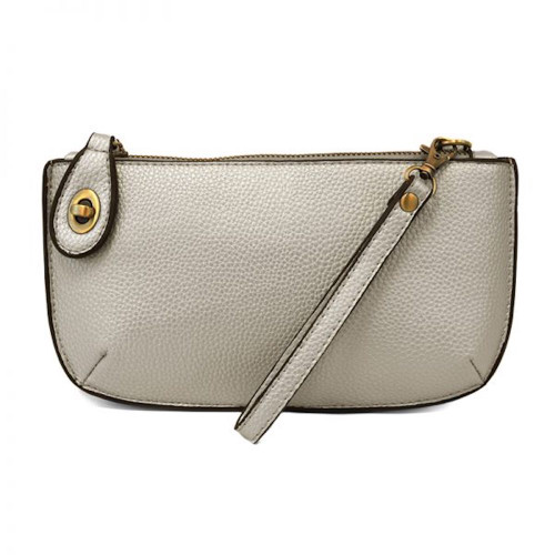 JOY SUSAN - WRISTLET CLUTCH - NEW SILVER - MINI CROSSBODY