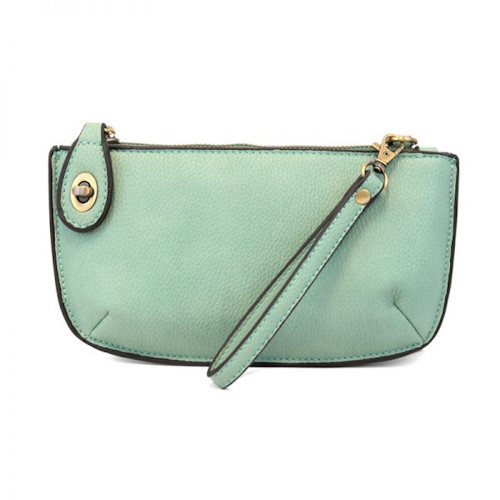 JOY SUSAN - WRISTLET CLUTCH - SEAFOAM - MINI CROSSBODY
