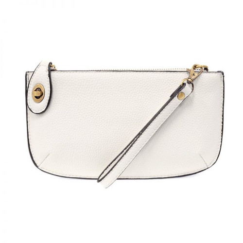 JOY SUSAN - WRISTLET CLUTCH - WHITE - MINI CROSSBODY
