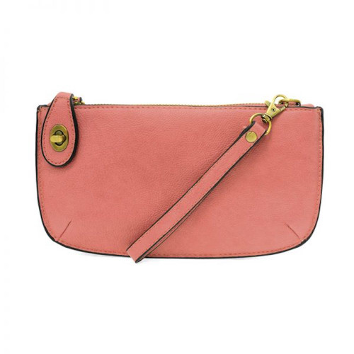 JOY SUSAN - WRISTLET CLUTCH - BLUSH - MINI CROSSBODY