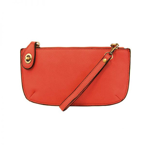 JOY SUSAN - WRISTLET CLUTCH - FLAME RED - MINI CROSSBODY