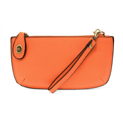 JOY SUSAN - WRISTLET CLUTCH - PAPAYA - MINI CROSSBODY