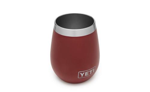 Engravable Yeti Rambler 10oz Wine Tumbler - Brick Red