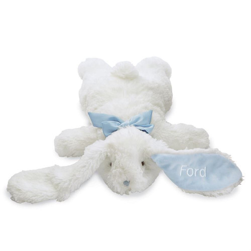 Personalized Flat Rabbit Plush - Blue