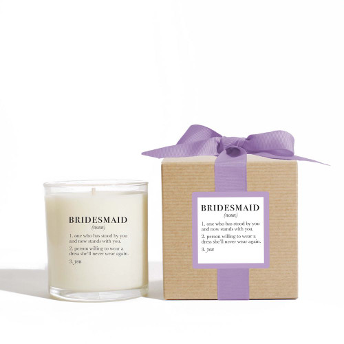 Ella B. Large Candle - Definition of a Bridesmaid