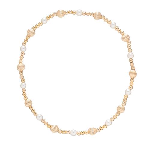 enewton Dignity Sincerity Pattern 4mm Bead Bracelet - Pearl