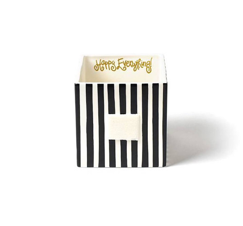 Medium Mini Nesting Cube - Black Stripe