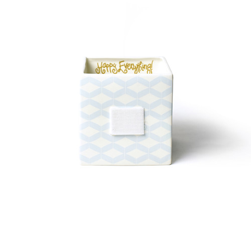 Small Mini Nesting Cube - Smoke Angled Weave