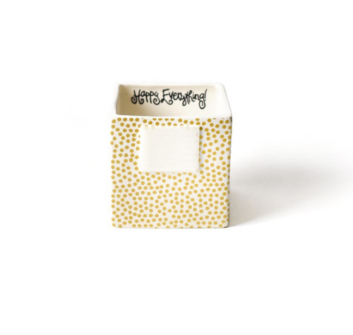 Small Mini Nesting Cube - Gold Small Dot