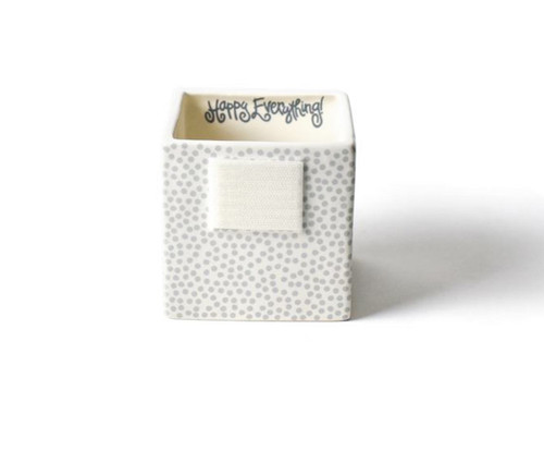 Small Mini Nesting Cube - Stone Small Dot