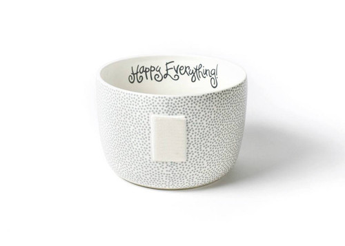 Large Happy Everything Bowl - Stone Small Dot