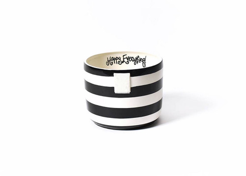 Small Happy Everything Bowl - Black Stripe