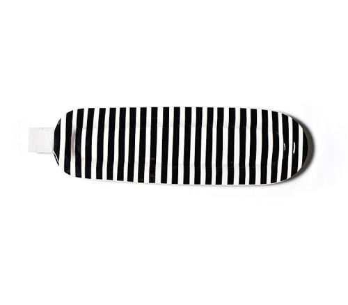 Mini Entertaining Skinny Oval Platter - Black Stripe