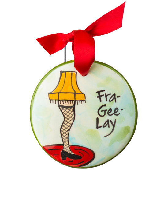 Hand Painted Leg Lamp Ornament