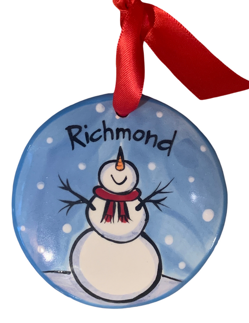 Hand Painted Richmond Ornament