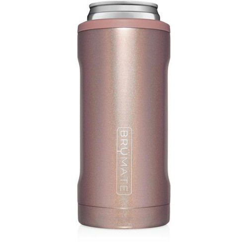 Brumate 12oz Slim Can Cooler - Glitter Rose Gold