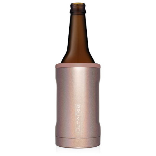 Brumate Hopsulator Bottle Cooler - Glitter Rose Gold