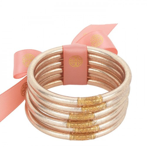 BuDha Girl All Weather Bangles - S/6 Champagne