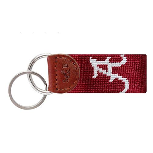 "Smathers & Branson Collegiate Needlepoint Key Fob - University of Alabama - ""A"""